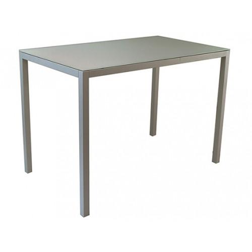 Gardenart Aluminum Modern glass bar table - wholesale Sales promotion