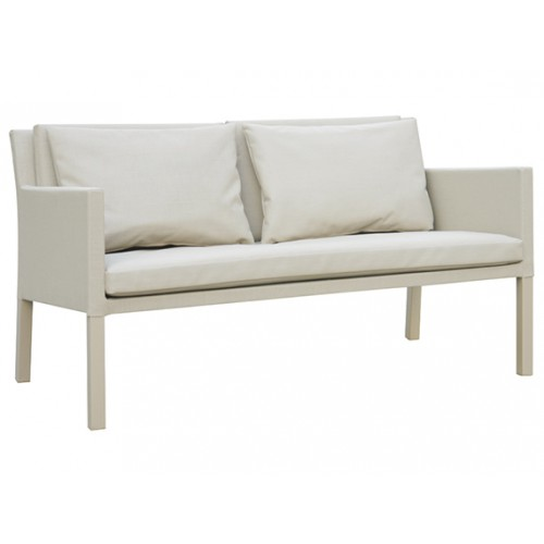 Gardenart garden furniture Aluminum sling-covered two seater sofa outdoor furniture