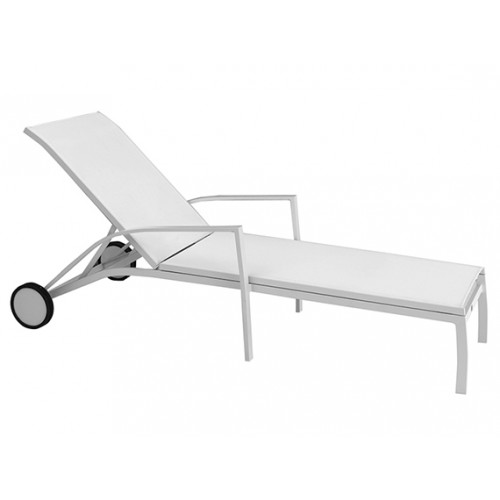 Gardenart Aluminum sling sun outdoor lounger - wholesale Sales promotion