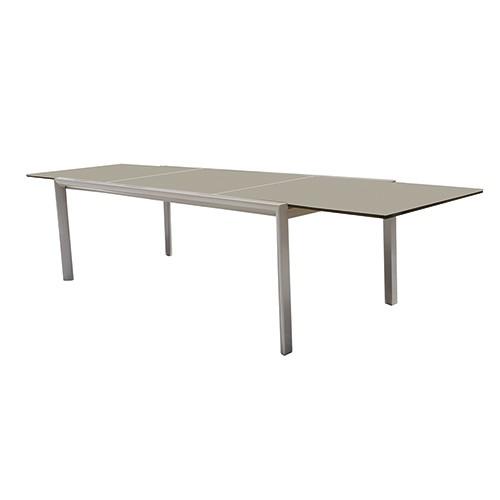 Gardenart Aluminum Modern glass extension dining table furniture