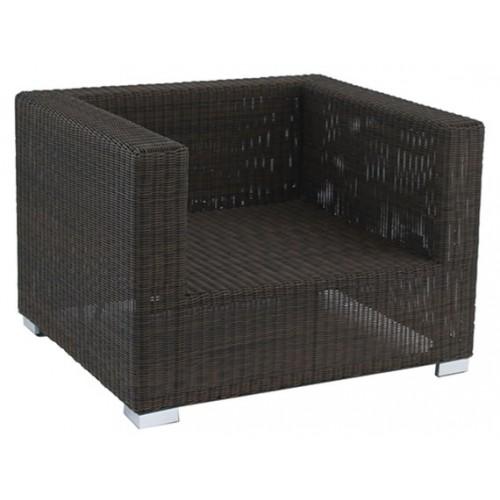 Gardenart Aluminum resin wicker one seater sofa furniture - wholesale Sales promotion