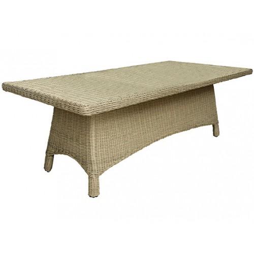 Gardenart garden furniture Aluminum resin wicker dinning table - wholesale Sales promotion
