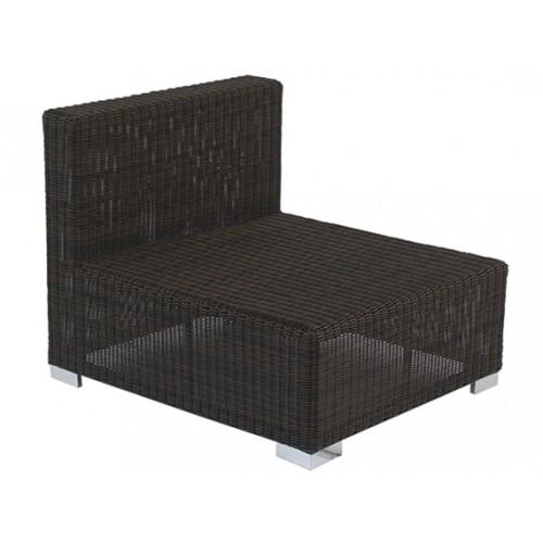 Gardenart Aluminum resin wicker one seater sofa - wholesale Sales promotion
