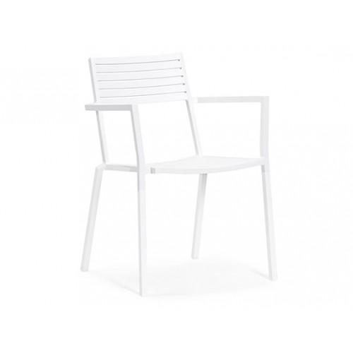 Gardenart garden furniture Outdoor Aluminum Restaurant Full Aluminum dining chair