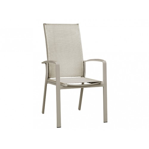 Gardenart Aluminum sling adjustable dining chair - wholesale Sales promotion