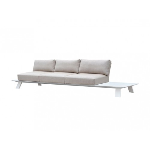 Neverland Aluminum sofa, three seaters, with 3 backpannels