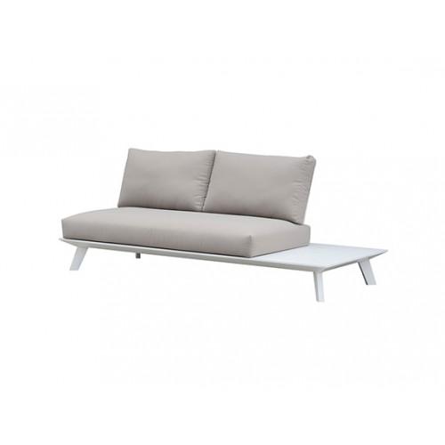 Positano aluminum sofa, two seaters, without armrest