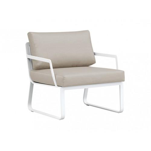Verona Full aluminum sofa, one-seater