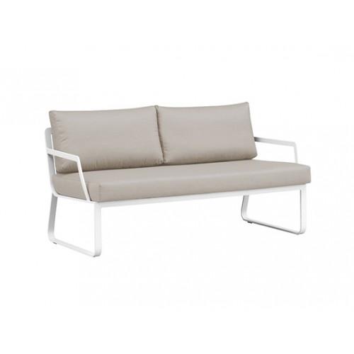 Verona Full Aluminum sofa, two-seater