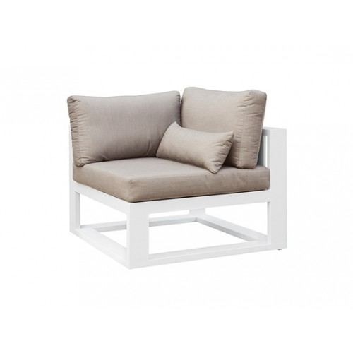 Fermo Aluminum sofa, one seater, as corner part, with one armrest