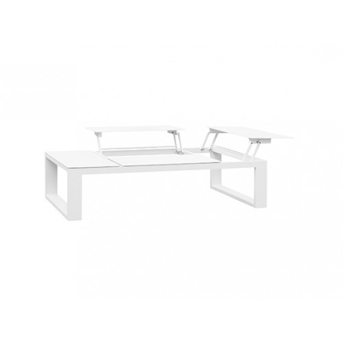 Fermo Aluminum Coffee Table with 4 Lifting Aluminum Tops