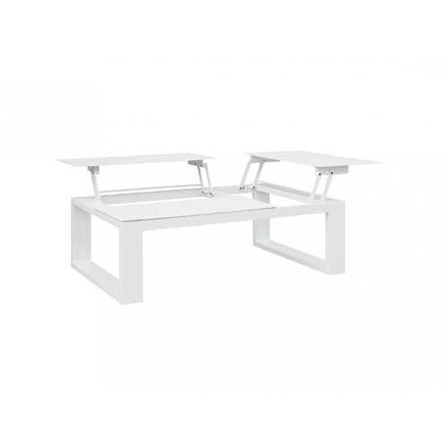 Fermo Aluminum Coffee Table with 3 Lifting Aluminum Tops