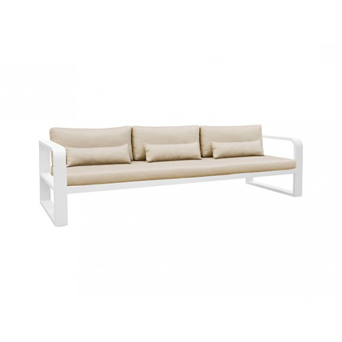 Fermo Aluminum sofa, three seaters, with two armrests