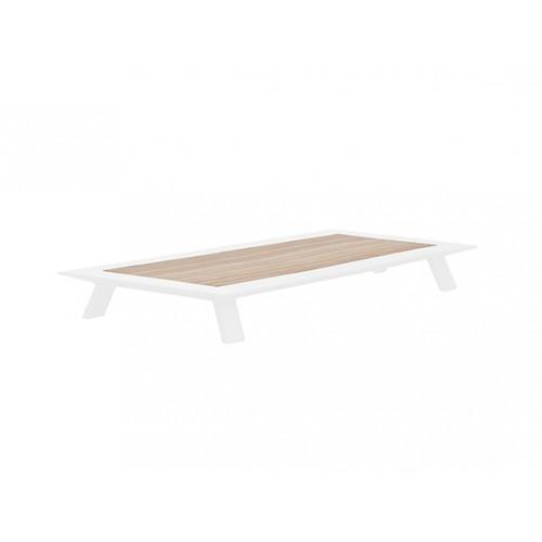 Neverland Aluminum/teak coffeetable, L140*W91cm