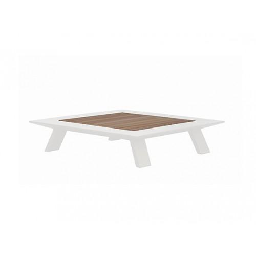 Neverland Aluminum/teak coffee table, L91*W91cm