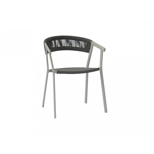 Auto Aluminum/round rope chair, domestic rope in polyester, with cushion
