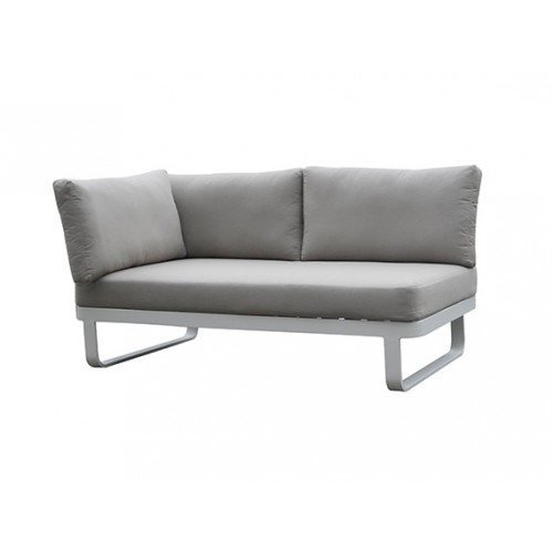 Verona Aluminum round rope sofa, two seater with one right armrest