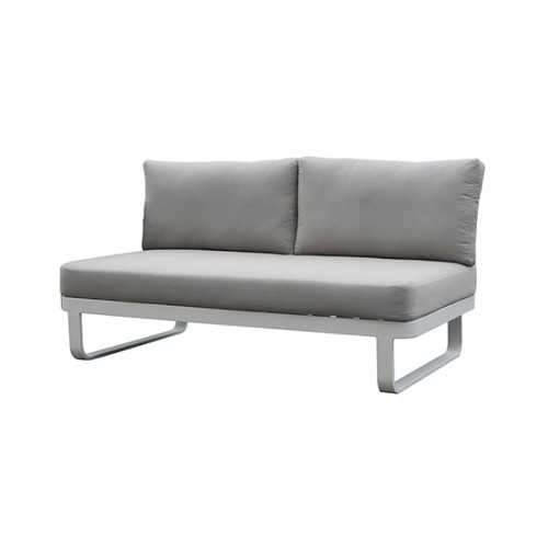 Verona Aluminum round rope sofa, two seater without armrest