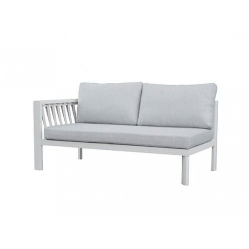 Cooper Aluminum round rope sofa, two seater with one right armrest