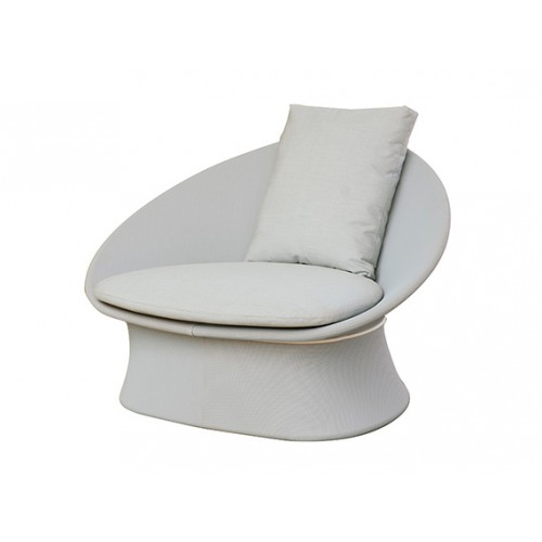 Spade Aluminum Sling-covered Sofa, One Seater, without cushion
