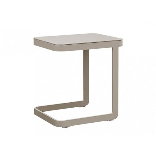 Verona Aluminum side table, 47x40xH50cm