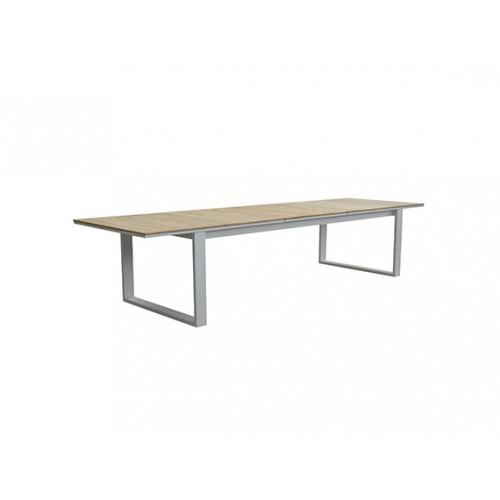 Fermo Aluminum/Teak Extension Dining Table