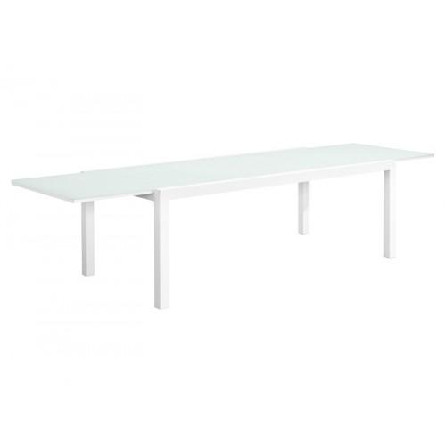 Gardenart Aluminum Modern glass extension dining table