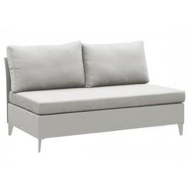 Gardenart Aluminum sling-covered two seater sofa outdoor sofa