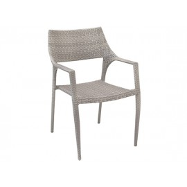 Gardenart Aluminum resin wicker stackable armchair - wholesale Sales promotion