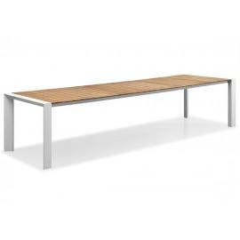 Gardenart Full aluminum outdoor teak top extension table
