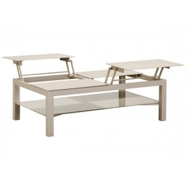 Gardenart Aluminum Modern coffee table, lifting Aluminum top