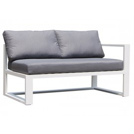 Gardenart Leather & Fabric Full Aluminum two-seater corner sofa - wholesale