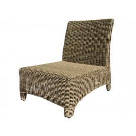Gardenart garden furniture Aluminum resin wicker one seater sofa - wholesale Sales promotion