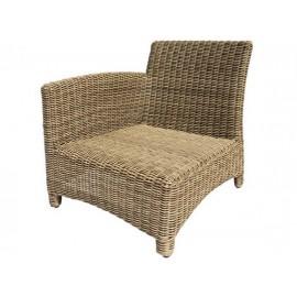 Gardenart garden furniture Aluminum resin wicker one seater sofa