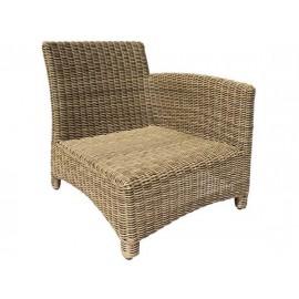 Gardenart garden furniture Aluminum and resin wicker one seater sofa - wholesale Sales promotion