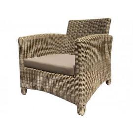 Gardenart Aluminum sofa resin wicker one seater sofa - wholesale Sales promotion