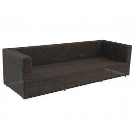 Gardenart garden furniture Aluminum resin wicker three seater sofa - wholesale Sales promotion