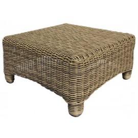 Gardenart Aluminum resin Rattan Wicker Sofa Set Garden footrest furniture
