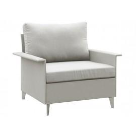 Gardenart Outdoor Aluminum Seating sling-covered one seater sofa