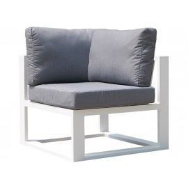 Gardenart Full Aluminum one-seater corner sofa perfect for your home