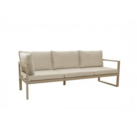 Solaro aluminum sofa, three seater with corner and arm left
