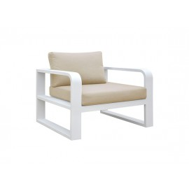 Fermo Aluminum sofa, one seater, with two armrests