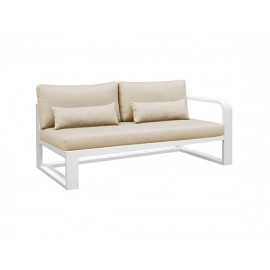 Fermo Aluminum sofa, two seater, with left armrest