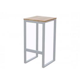 Fermo Aluminum/Teak Barstool, 39.5*39.5*H75cm