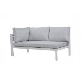 Cooper Aluminum round rope sofa, two seater with one left armrest