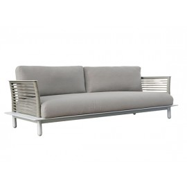 The Warrior Aluminum round rope sofa, domestic rope in polyester, 2.5 seater