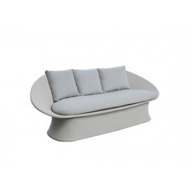 Spade Aluminum Sling-covered Sofa, Two Seater, without cushion