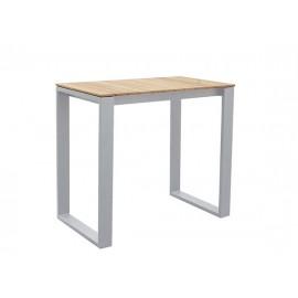 Fermo Aluminum/Teak High Dining Table, 120*70cm