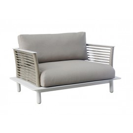 The Warrior Aluminum round rope sofa, domestic rope in polyester, 1.5 seater
