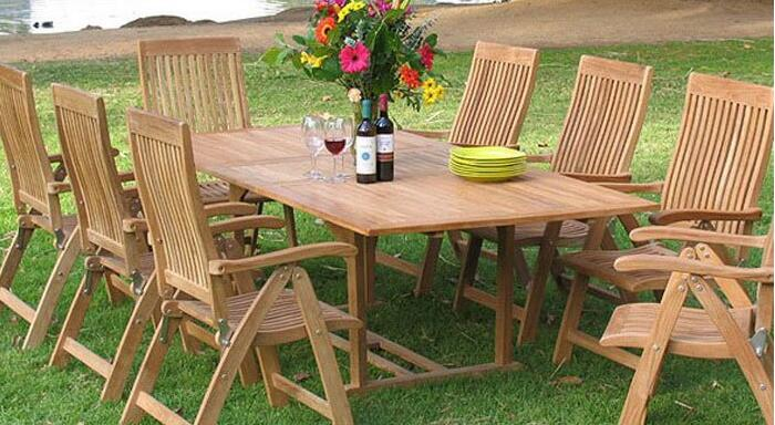 Selection of outdoor furniture mainly durable materials